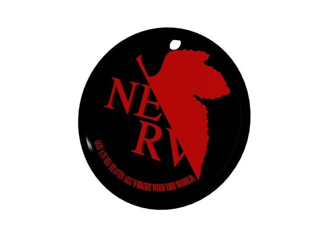 N.E.R.V. logo in White Processed Versatile Plastic