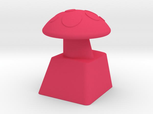 MushroomCap Artisan Cherry Keycap in Pink Processed Versatile Plastic