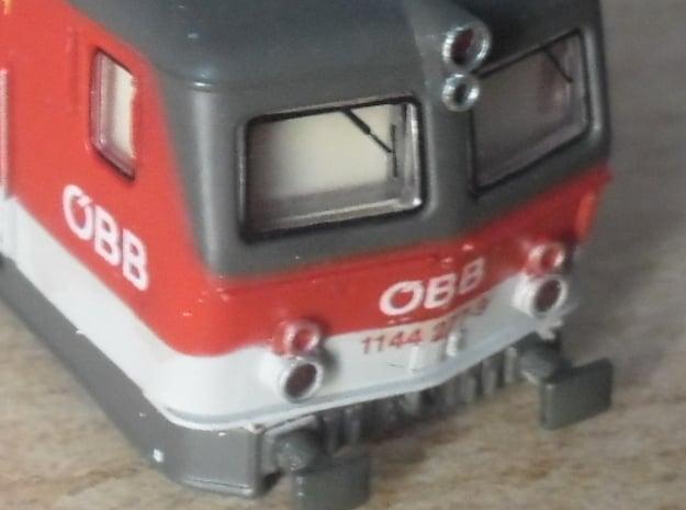 Eckige Puffer für ÖBB 1044/1144 in  1/160 in Smooth Fine Detail Plastic
