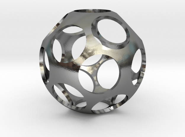 Ball Shaped Pendant in Polished Silver