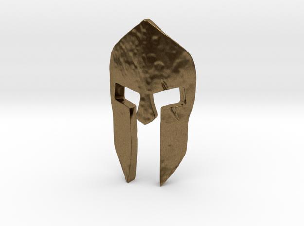 Spartan Helmet Pendant in Natural Bronze
