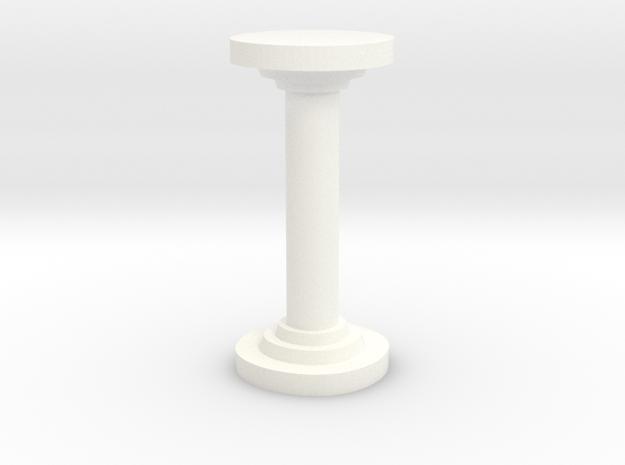 Sharp Round Pillar in White Processed Versatile Plastic