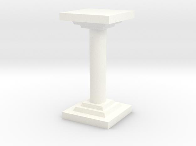 Pillar in White Processed Versatile Plastic