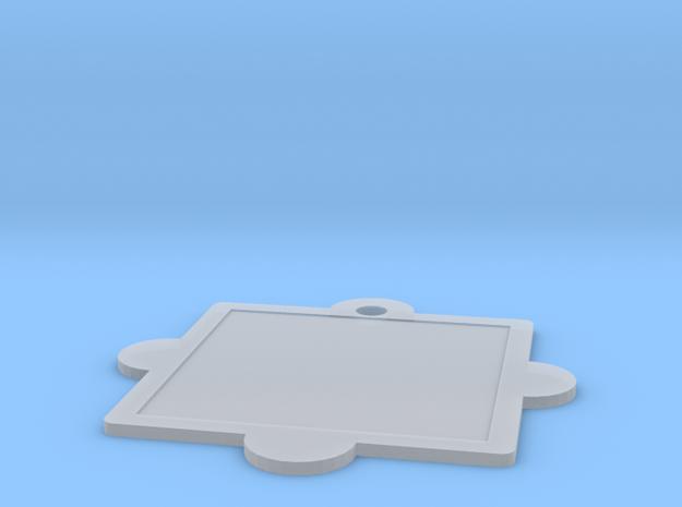 Customizable Mandala Pendant in Smooth Fine Detail Plastic