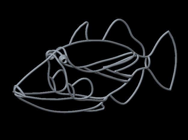 "Triggerfish 8"" Long in White Natural Versatile Plastic"