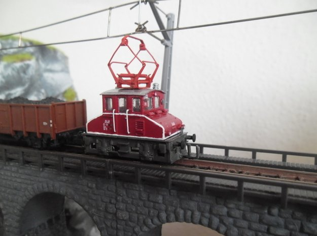 E 11 der Salzbuerger Lokalbahn (SLB) in 1:160 in Smoothest Fine Detail Plastic