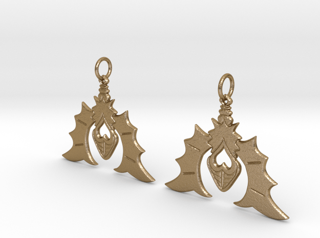 Batty For You Earrings in Polished Gold Steel