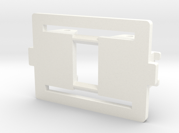 Cubo Badoni tractor dummy Frame in White Processed Versatile Plastic