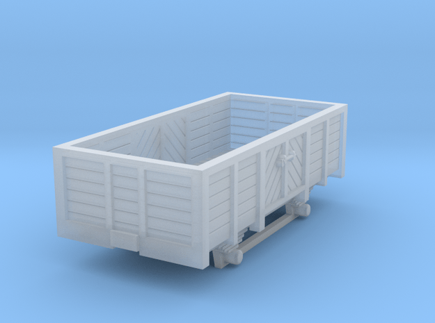 Decauville open Car H0e in Smooth Fine Detail Plastic