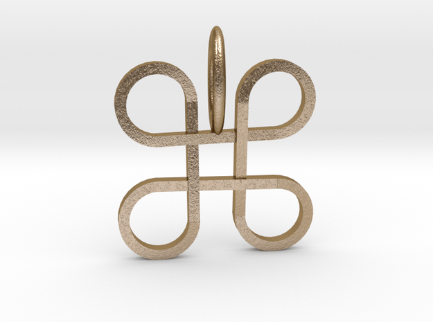 Mpatapo Pendant in Polished Gold Steel