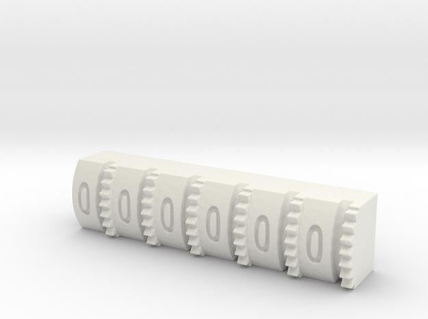 Hengstler Counter 6 Number Roller in White Natural Versatile Plastic