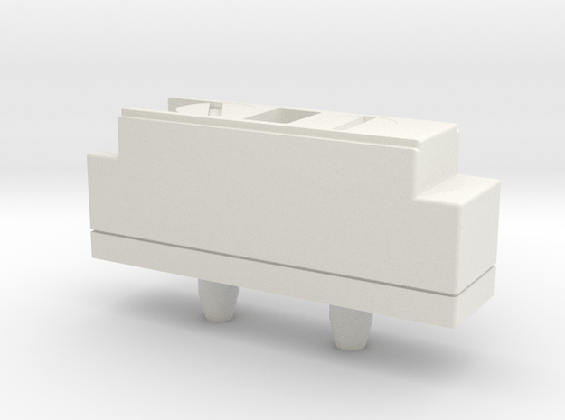 Vader E6 Control Box with screws in White Natural Versatile Plastic