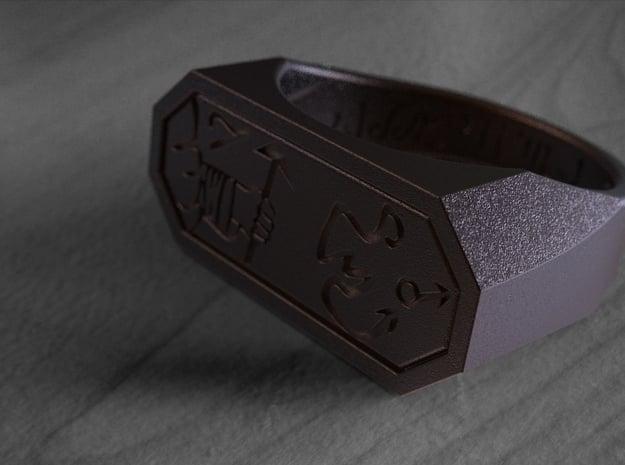 Talisman #8 in Polished Bronze Steel: 9 / 59