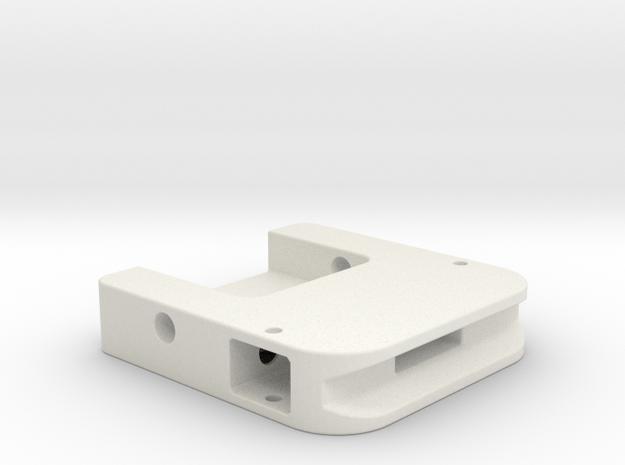 PP Cape Clip-Housing in White Natural Versatile Plastic