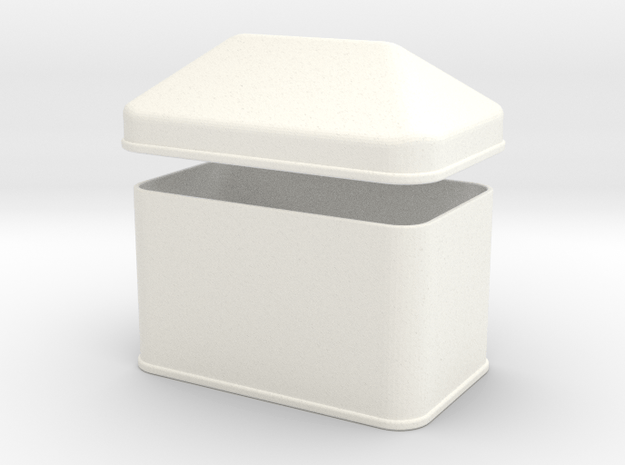 Cookie Can in White Processed Versatile Plastic