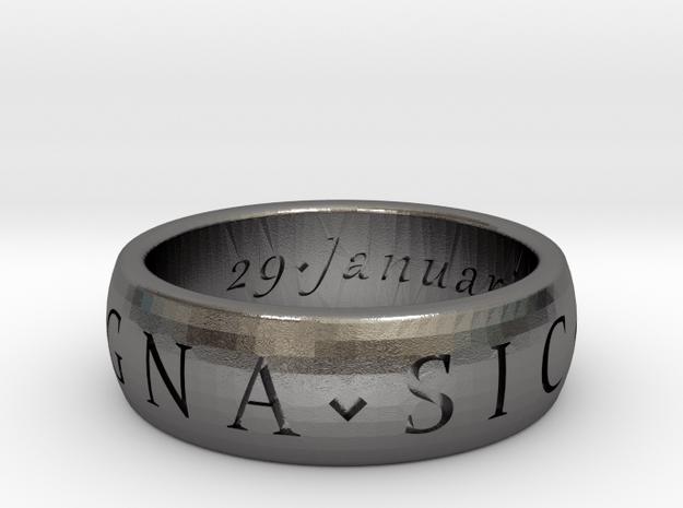 Size 6 Sir Francis Drake, Sic Parvis Magna Ring