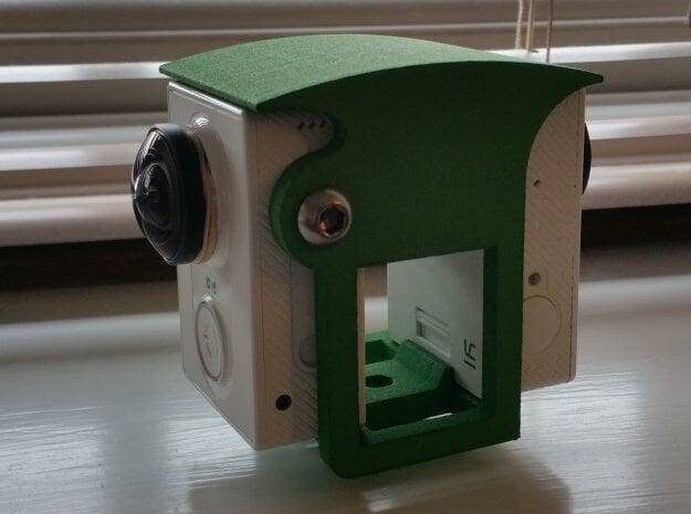 Brahma Duo camera holder for Xiaomi Yi 360 in Blue Processed Versatile Plastic