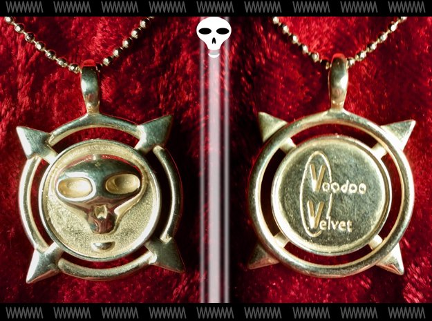 Voodoo Velvet - Pendant in Polished Silver