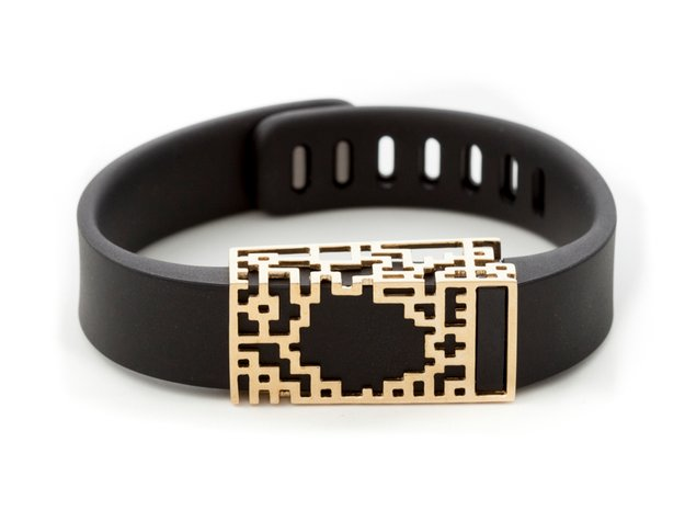 Lucas slide for Fitbit Flex in 14K Yellow Gold