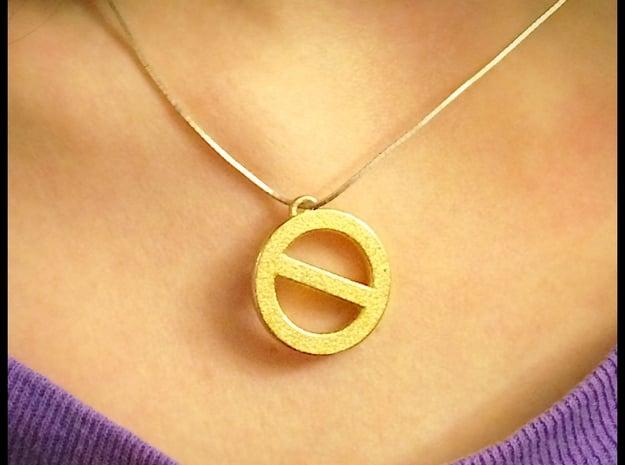 Golden Power of Veto in Polished Gold Steel