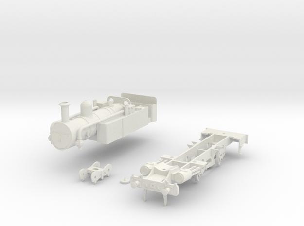 Metropolitan Railway A Class 7mm scale in White Natural Versatile Plastic