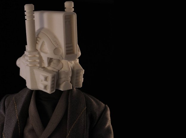 """Ultra Magnus"" custom 1:6th scale head in White Natural Versatile Plastic"