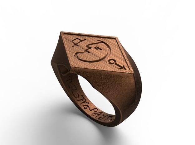 Talisman #10  in Polished Bronze Steel: 9 / 59