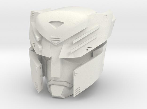 """""""Autoboticus"""" custom 1:6th scale head in White Natural Versatile Plastic"""