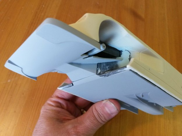 Toyota Eagle MkIII Front Splitter, 1/24 in Smooth Fine Detail Plastic