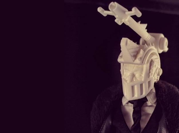 """Bombshell"" custom 1:6th scale head in White Natural Versatile Plastic"