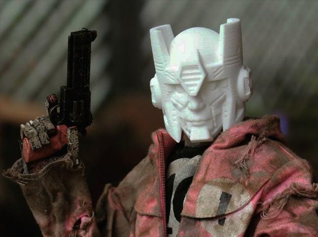 """Kup"" custom 1:6th scale head in White Natural Versatile Plastic"