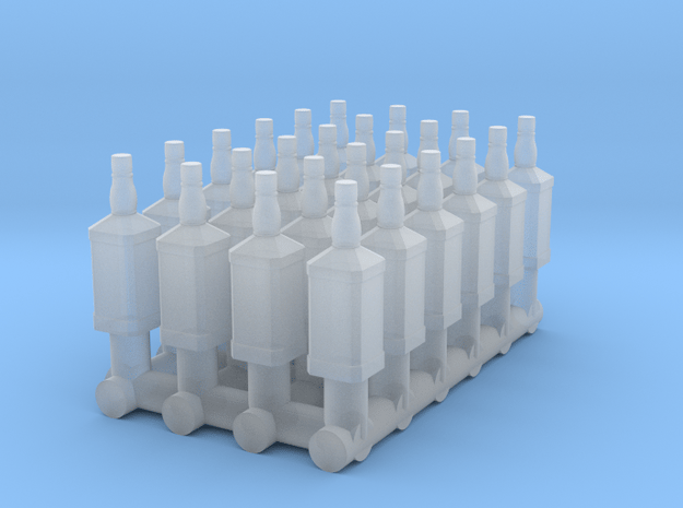 1:48 24 Whiskey Bottles in Smooth Fine Detail Plastic
