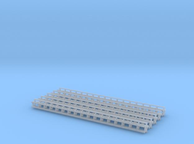 1/64 Rolling Baskets 17ft Set of 5 Baskets in Smooth Fine Detail Plastic