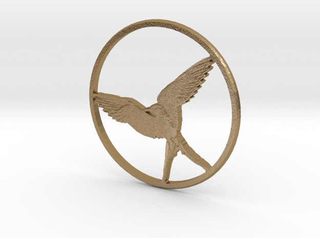 Artic Tern Circle in Polished Gold Steel