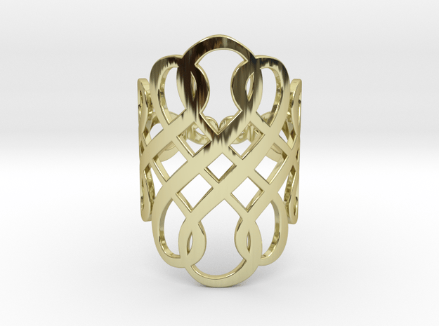 Celtic Knot Ring Size 7 in 18k Gold Plated Brass