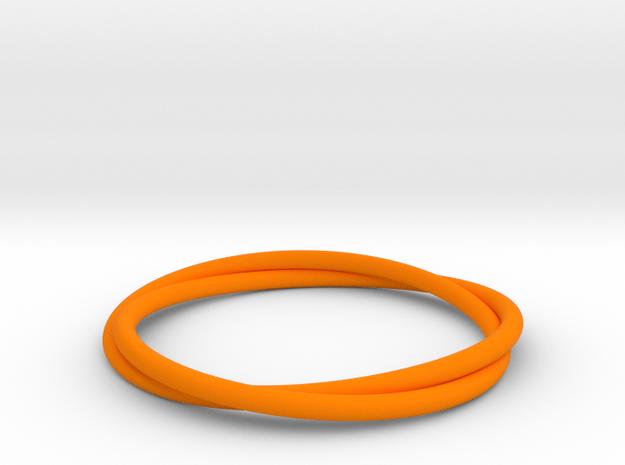 Bracelet Double in Orange Processed Versatile Plastic