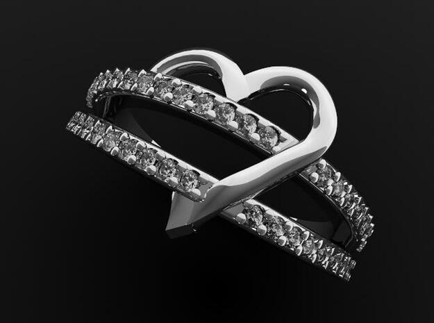 Custom Heart in 14k White Gold