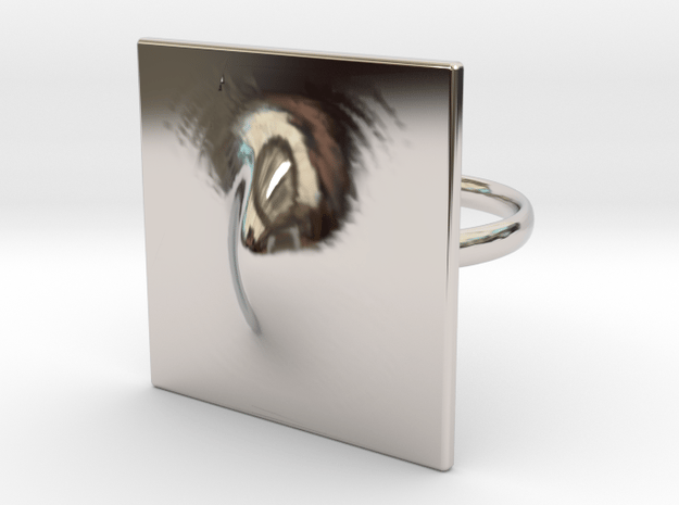 Squeeze Me Ring in Rhodium Plated Brass