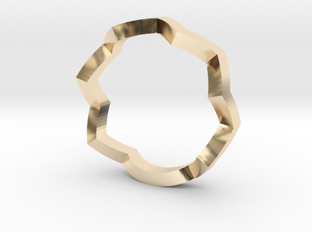 zig zag ring in 14K Yellow Gold