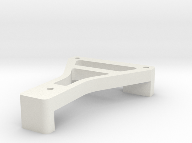 22 3.0 Low Pro Battery Plate in White Natural Versatile Plastic