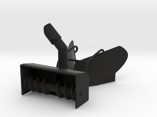 1/64 Wheel Loader Snow Attachments in Black Natural Versatile Plastic