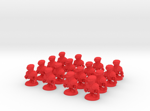 ARMY OF POCKET KNIGHTS in Red Processed Versatile Plastic