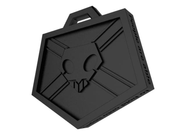 Soul Reaper Badge in Black Natural Versatile Plastic