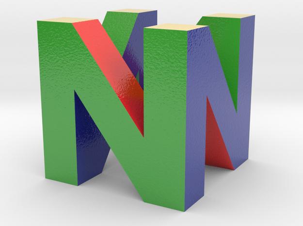 Nintendo 64 Charm in Glossy Full Color Sandstone