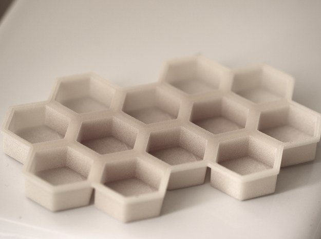 Beehive ice tray in White Natural Versatile Plastic