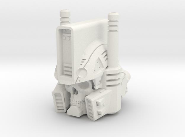 """Undead Ultra Magnus"" custom 1:6th scale head in White Natural Versatile Plastic"