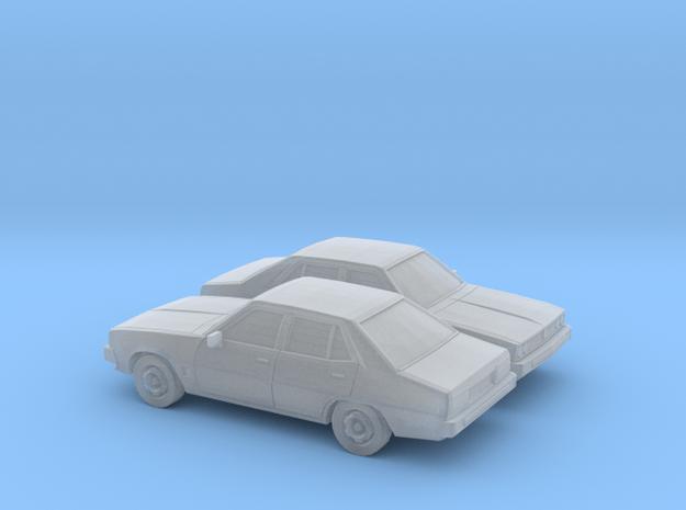 1/148 2X 1978 Mitsubishi Galant Sedan in Smooth Fine Detail Plastic