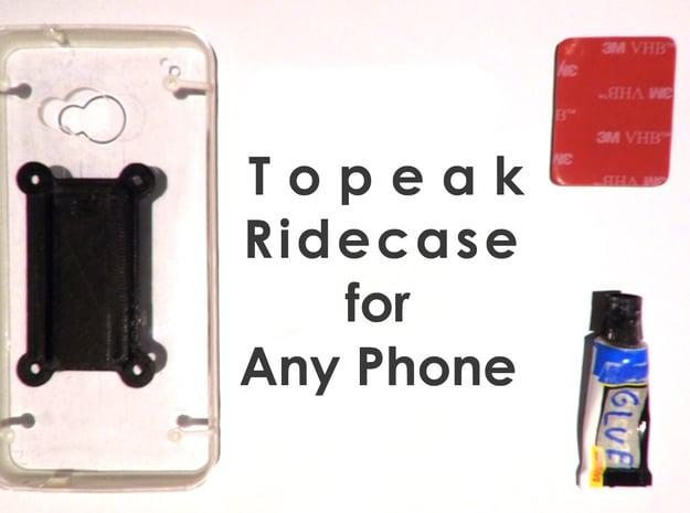 Adapter for Topeak Ridecase  in White Processed Versatile Plastic