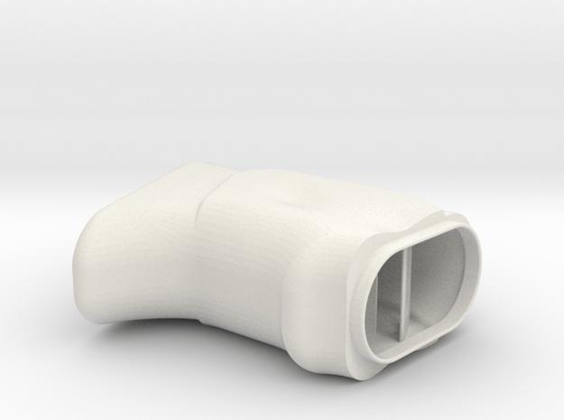 P40 Grip 3 in White Natural Versatile Plastic