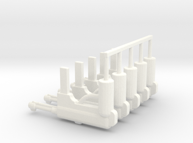 German MP-40 Pack in White Processed Versatile Plastic